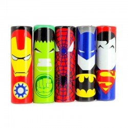 WRAPS ACCUS 18650 SUPER HEROS